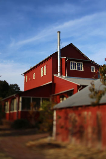 Wine Factory at Napa Valley Architecture Building Exterior Built Structure Cimney Day Factory Building House Napa Valley No People Outdoors Red Sky Tiltshift Vintage Winery