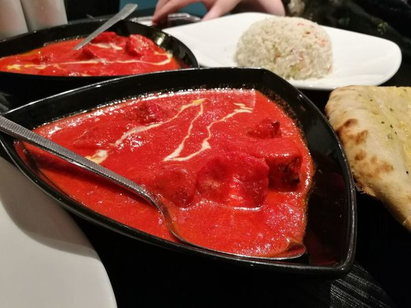 Delicious chicken tikka masala at an indian restaurant in Skye. Red Food And Drink Food Indoors  No People Freshness Close-up Ready-to-eat Day Curry Indian Food Tikki Masala Tikkamasala Delicious Mouthwatering Restaurant