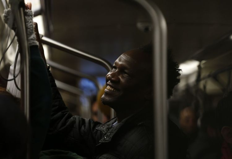 A man on subway going to Taksim/İstanbul Portrait Portraits Black Smile Musician Headshot Close-up Thinking Thoughtful