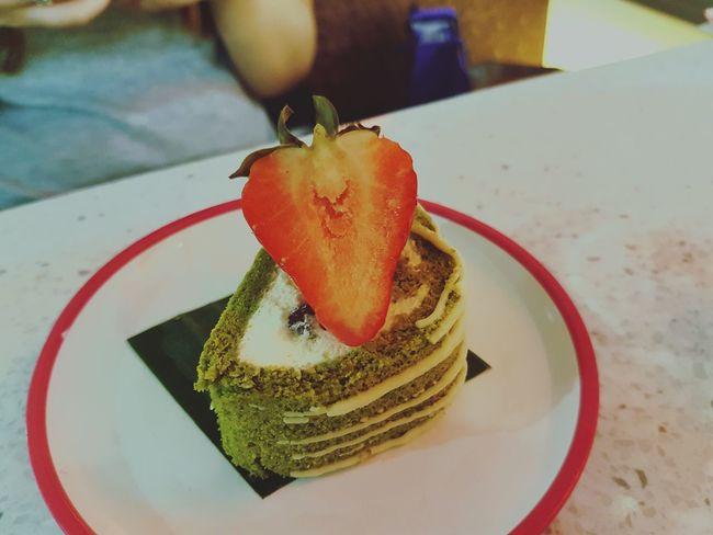 Food Food And Drink No People Close-up Dessert Pudding Matcha Green Tea Sushi Yo Sushi Yo! Sushi Strawberry