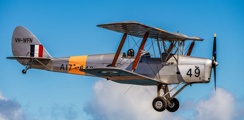 Tiger Moth aircraft flying over Perth, Western Australia. Perth Perth Australia Tiger Moth Aerial Photography Air To Air Air Vehicle Aircraft Airplane Aviation Biplane Cloud - Sky Day Flight Flying Military Mode Of Transportation Plane Sky Transportation Vintage Vintage Aircraft Warbird