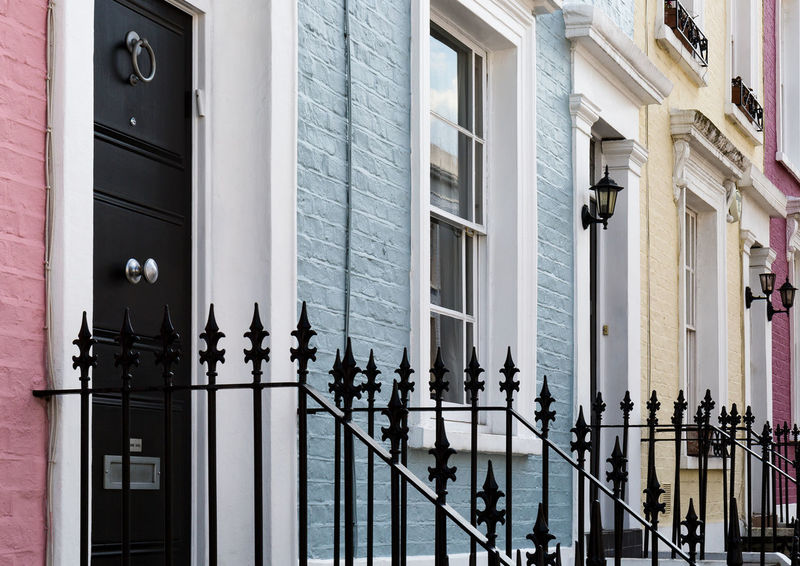 United colours of Notting Hill Architecture Area Building Exterior Built Structure Colour Day Door Fence Houses Iconic Luxury No People Notting Hill Outdoors Pastel Residential Building United Kingdom Window Postcode Postcards Colour Your Horizn