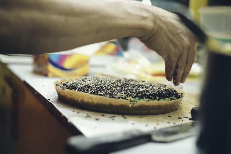 Martabak manis or indonesian sweet giant pancake