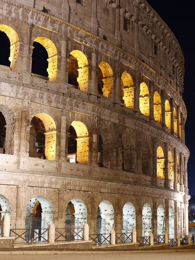 Colloseum In Rome Lights Roma Amphitheater Ancient Annamour Annamourtravel Arch Archaeology Architectural Column Architecture Arts Culture And Entertainment Building Exterior Built Structure Colloseum Collosseum History Italy Low Angle View Night Old Ruin Outdoors The Past Travel Travel Destinations