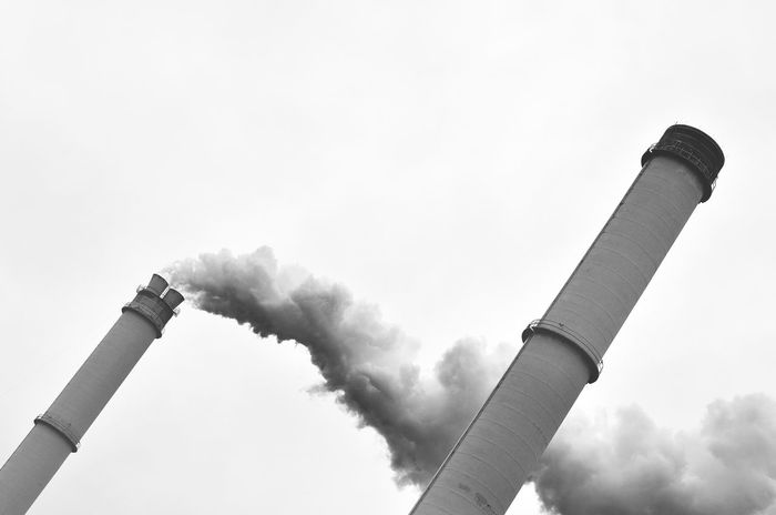 Chimney Chimneys Industry Smoke Air Pollution Chimney Chimney Bricks Chimney Stacks Day Emitting Factory Factory Building Fumes Industry Low Angle View No People Outdoors Pollution Sky Smoke - Physical Structure Smoke Stack EyeEm Ready