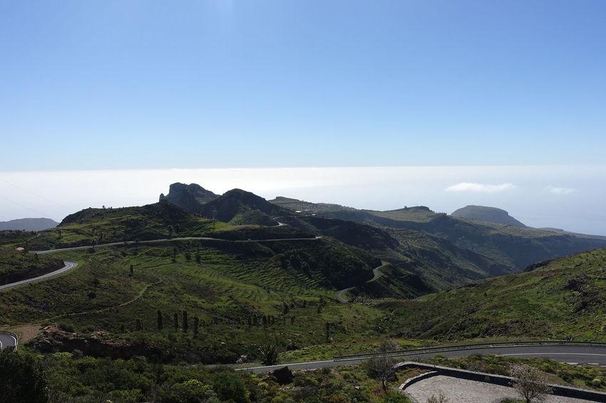Beauty In Nature Clouds La Fortaleza La Gomera, Canary Islands Landscape Mountain Nature Scenics Sky Tranquility Volcano Landscape