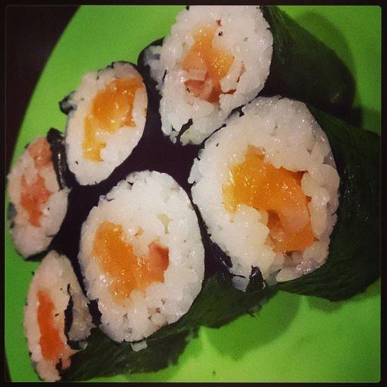 SUSHI!!! Delicious Salmonmaki Instabeauty Instadroid instadaily