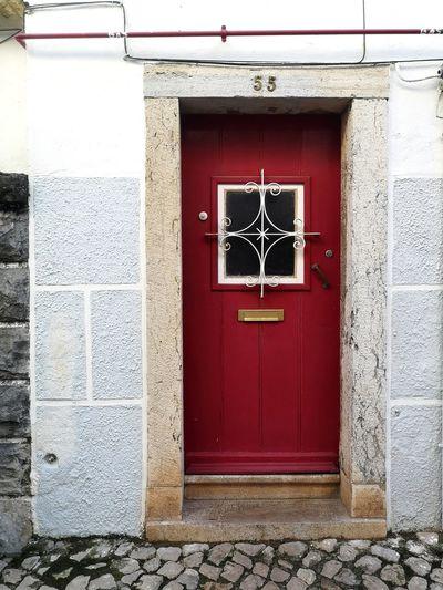 Old Door Red