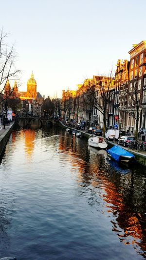Reflection Water Amsterdam City Bicycles Canals Sunset Tranquillity Beautiful Place ♥ No People EyEmNewHere The Week On EyeEm