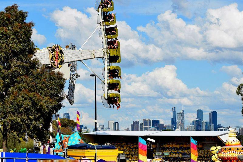 Amusement Park Amusement Park Ride Architecture Built Structure Cloud - Sky Leisure Activity Lifestyles Outdoors Sky