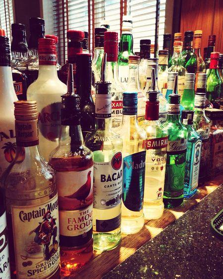 Bottles Collection Bottles Of Alcoholic Drinks Bottle Drink Alcohol Colors Colours Colourful Bar - Drink Establishment Bar