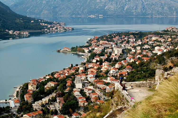 Boka Kotorska bay, Montenegro Architecture Bay Beauty In Nature Boka Kotorska Building Exterior Built Structure City Cityscape Day High Angle View House Kotor Lake Montenegro Mountain Nature No People Outdoors Residential Building Scenics Sky Town Tree View Water