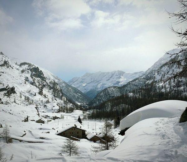 Under the snow.