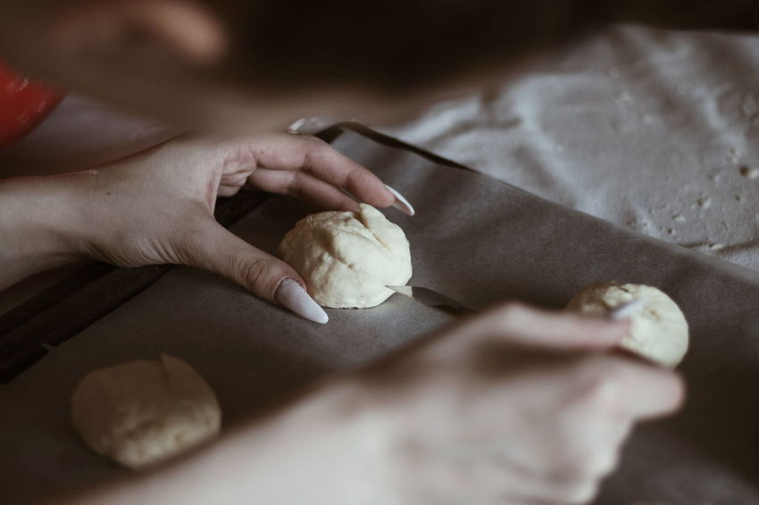 VSCO Cooking Vintage Bread Bunnies Easter EyeEm Selects Human Hand Human Body Part One Person Only Women Indoors  One Woman Only Adult Food