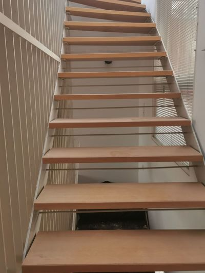 Low angle view of empty staircase