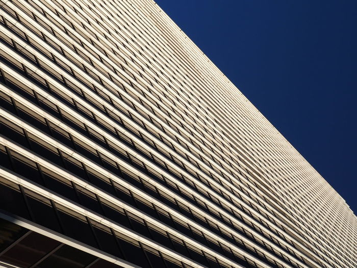 Architecture Blue Sky Building Exterior Built Structure Close-up Day Frankfurt Low Angle View Modern Modern Modern Architecture No People Outdoors Repeating Patterns Repetition