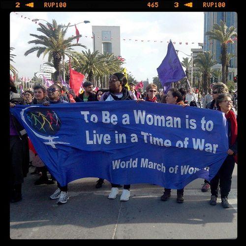 WSF2015 To be a woman is to live in a time of war World march of women FSM2015