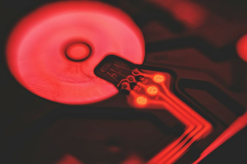 Macro Macro Photography Data Data Center Data Communication Hdd No People Close-up Music Musical Instrument Red Indoors  Day