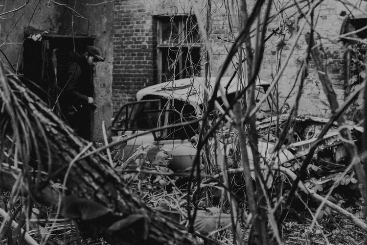 Berlin Exploring Abandoned Architecture Bad Condition Building Exterior Car Damaged Day Destruction Explore No People Obsolete Outdoors Run-down Transportation