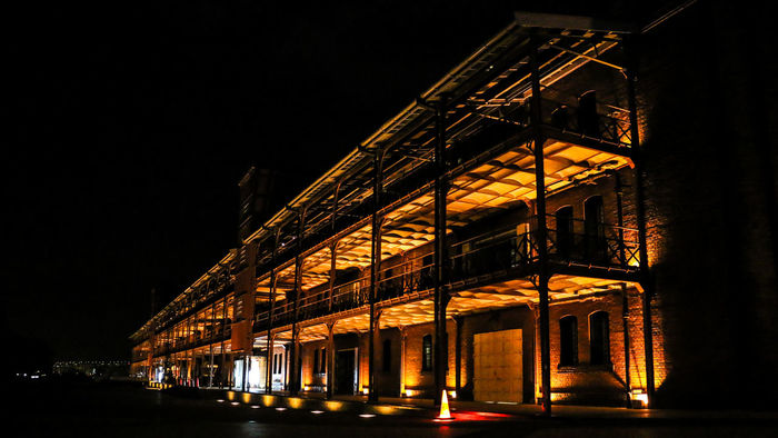 Architecture Brick Warehouse Building Exterior Built Structure Calm City Daily Project EyeEm Gallery Illuminated Low Angle View Night Night Lights Night View Nightphotography No People Outdoors Red Red Brick Warehouse Sky Streetphotography Travel Destinations Warehouse