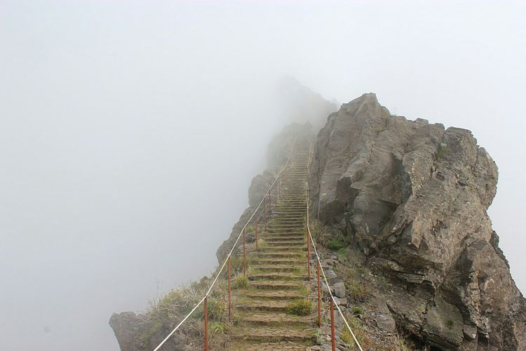 Landscape Nature Stairway To Heaven Scenics Mountain View Fog Fresh On Market 2016