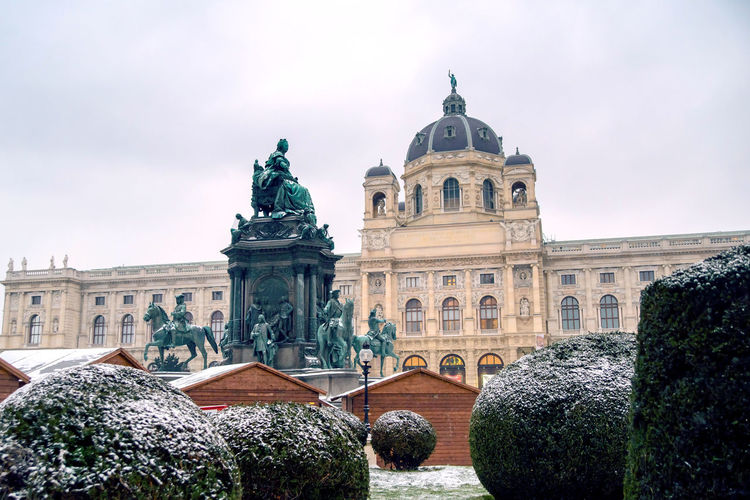 Vienna Hofburg - Imperial Palace, Austria, misty morning Built Structure Architecture Building Exterior Sky Art And Craft Nature Sculpture Tree Travel Destinations Plant Statue Day Cloud - Sky No People Representation History The Past Building Travel Human Representation Vienna Austria Palace Hofburg