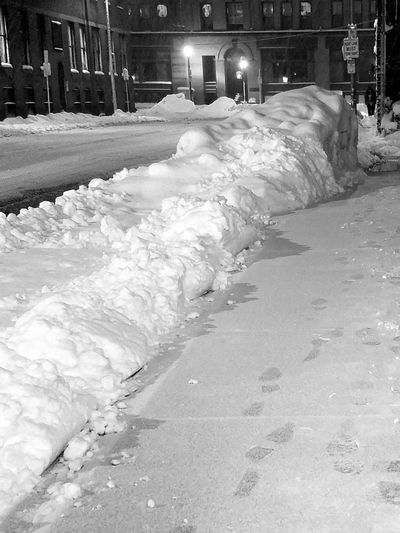 calm after the blizzard Snow Blizzard Streetphotography Nightphotography Night Road Deserted Street