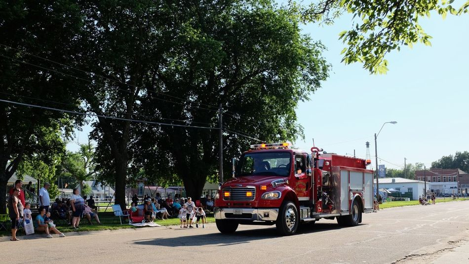 Old Settlers Picnic - Village of Western, Nebraska July 21, 2018 Always Making Photographs Americans Camera Work Community Event Fire Engine Getty Images Photo Essay Rural America Village Of Western, Nebraska Visual Journal Watching A Parade Accidents And Disasters City Day Eye For Photography Fire Truck Fujifilm_xseries Group Of People Land Vehicle Long Form Storytelling Men Mode Of Transportation Motor Vehicle My Neighborhood Nature Old Settlers Picnic Old Settlers Picnic 2018 Outdoors Parade People Photo Diary Plant Real People Red Road S.ramos July 2018 Sky Small Town Stories Street Summer Transportation Tree Truck