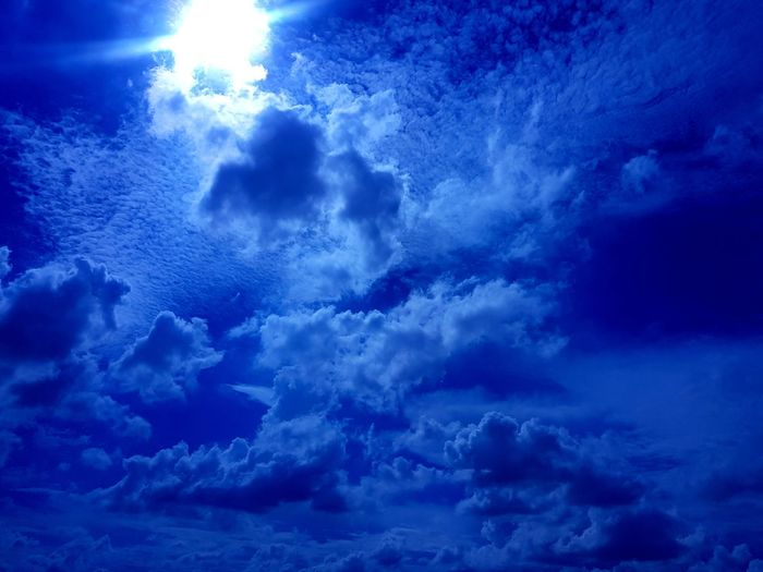 UnderSea Water Blue Backgrounds Astronomy Underwater Full Frame Sky Close-up Cloud - Sky