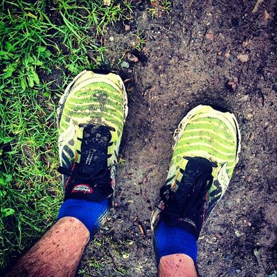 Glück gehabt, es fing erst 10min nach dem Start an zu regnen. So wurde ich nur 3:20h nass. Trainingslauf Marathon Rennsteiglauf  Medletik medletiklaufteam