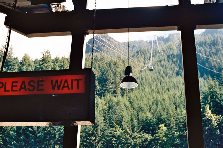 Analogue Photography Cable Car Film Minolta Please Wait British Columbia Canada Landscape Red And Green Whistler Xgm