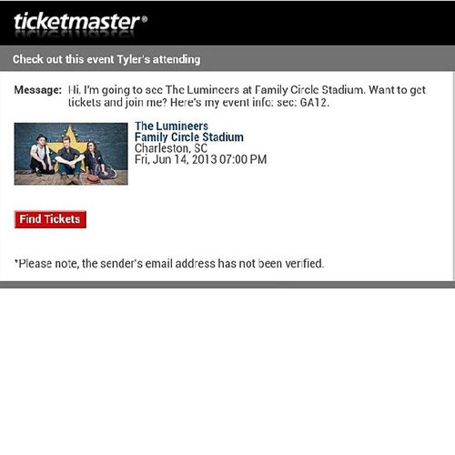 @thelumineers Booked Pumped