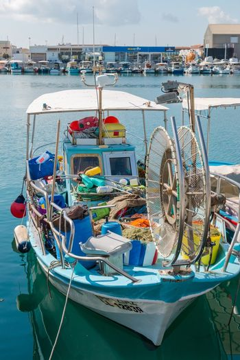 Fishing boat in port, Cyprus, Limassol Cyprus. Limassol Limassol Marina Cyprus Transportation Nautical Vessel Water Moored Mode Of Transportation Sea Fishing Industry Harbor Fishing Net No People Fishing Day Sky Pier Fishing Boat Outdoors