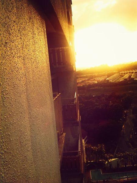 Sky Peaceful Evening Birdseye View Sunset