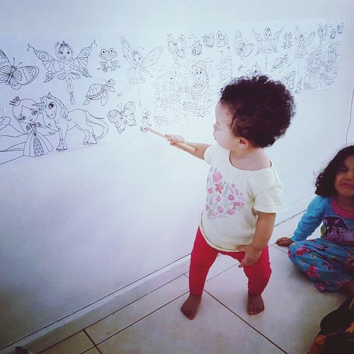 Toddler Childhood Girls Drawing - Activity