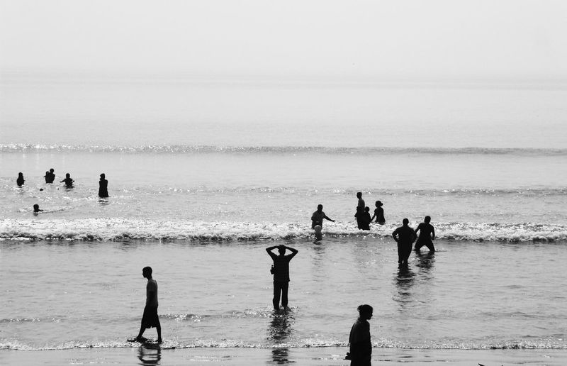 Life Is A Beach Beach Photography Beach Life Black And White Digha India