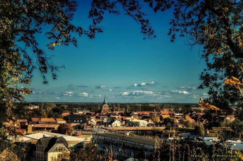 Aussicht über Boizenburg vom Stadtpark