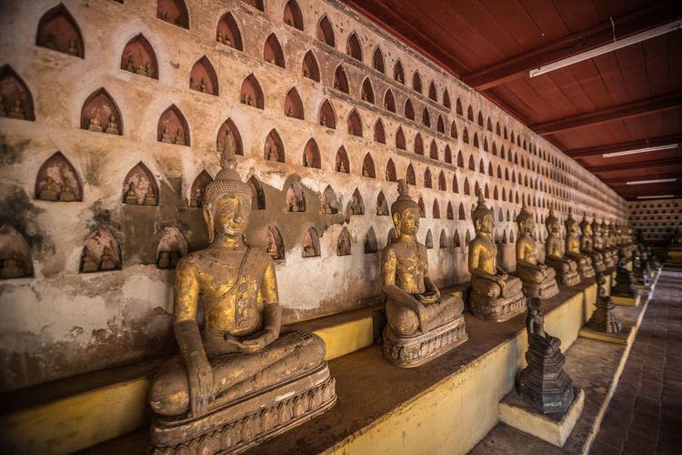 Nice view inside Wat Sisaket in Vientiane Laos Wat Sisaket Bhuddha Vientiane Laos