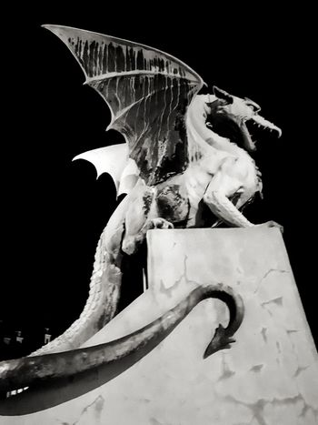 Dragon Drake  Blackandwhite Black And White Symbol Black Background Representing Sculpture Statue Close-up Animal Representation Fictional Character Icon Mythology The Still Life Photographer - 2018 EyeEm Awards The Traveler - 2018 EyeEm Awards The Architect - 2018 EyeEm Awards HUAWEI Photo Award: After Dark
