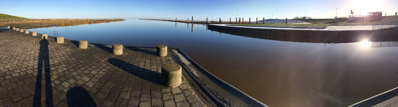 Licht Sonne und Wasser am Watt Watt Panorama EyeEm Selects Water Day Outdoors High Angle View No People Built Structure