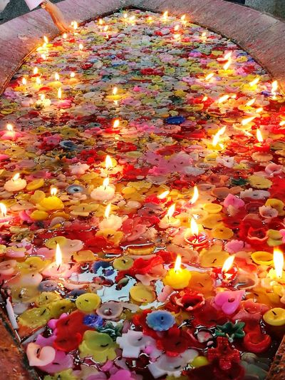 pool of wishes Philippines Candles Wishes Light Love ManaoagChurch Multi Colored Flame Celebration Burning Diwali