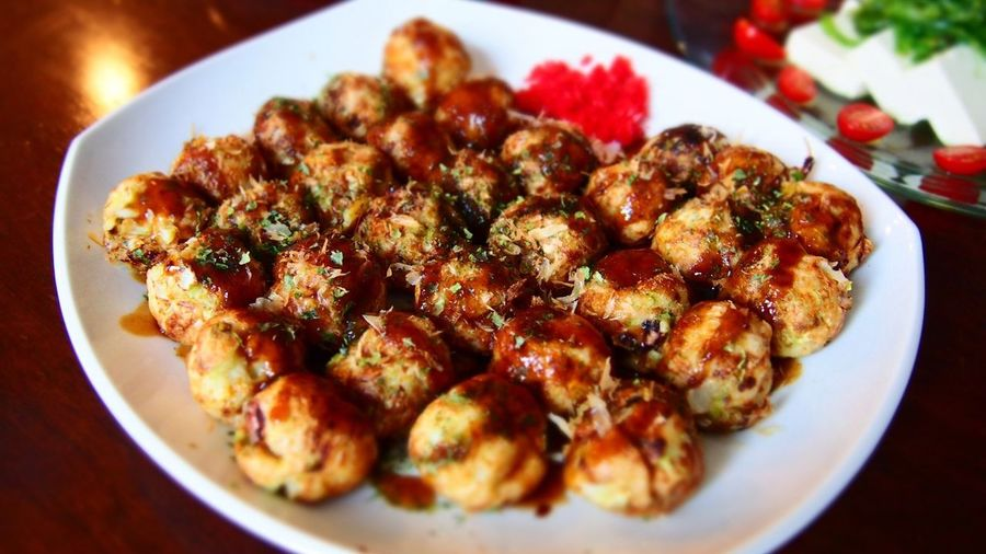 Plate Food Ready-to-eat Close-up Indoors  No People Japanese TAKOYAKI