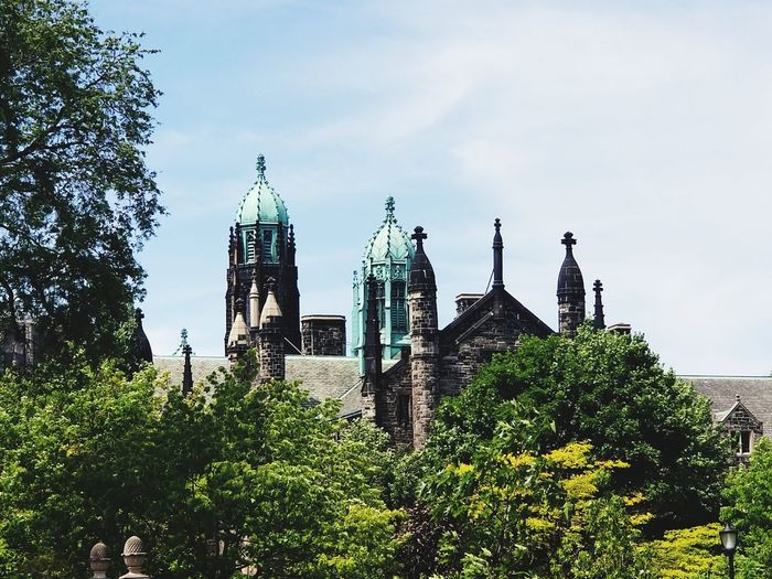 For the love of spires Canada Toronto Canada University Of Toronto Tree City Sky Architecture Building Exterior Built Structure Green Color Spire  Steeple Church Christianity Cathedral Place Of Worship Tall - High Tower