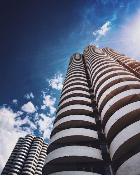 EyeEm Best Shots Architecture Low Angle View Minimalism Dramatic Sky Sunny Skyscraper Concrete Cloud - Sky EyeEm Selects