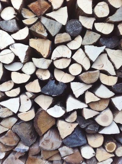 Full frame shot of wooden logs