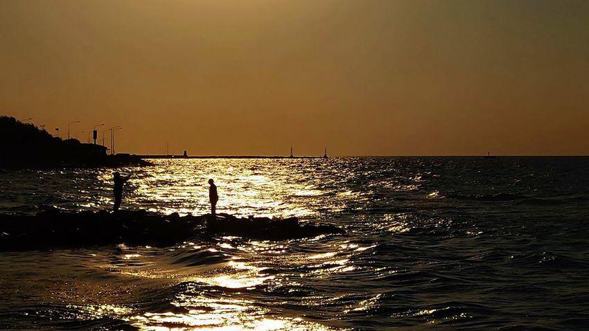Yalova Yalovasahili Günbatımı Türkiye Turkey Water Sea Sunset Beach Sport Child UnderSea Summer Silhouette Sunlight