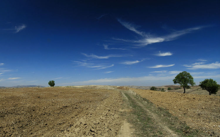 Landscape in Autumn Fall Land And Clouds Landscape Nature_collection No People Outdoors Panorama View Rural Scene Sky Tranquille Scene