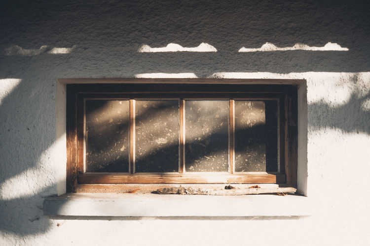 Window on wall of building