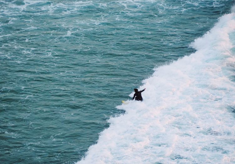 Waves View From Above Surfing Ocean Sport Sea Water Real People Aquatic Sport Surfing Wave Motion Waterfront Leisure Activity Day Men High Angle View Lifestyles People Beauty In Nature Adventure Unrecognizable Person Skill  Nature 17.62° My Best Photo