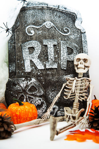No People Celebration Human Representation Orange Color Text Representation Close-up Art And Craft Food Craft Halloween Indoors  Food And Drink Male Likeness Day Cold Temperature Human Skeleton Creativity Still Life Decoration Orange